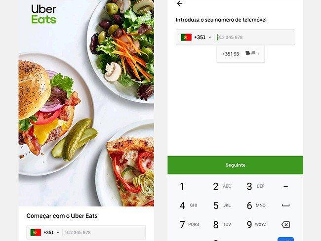Exemplo UberEats app