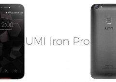 UMI Iron Pro apresentado com leitor de impressões digitais e Eyeprint ID