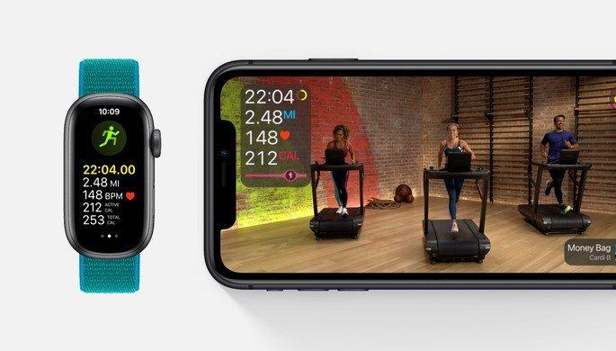 Conceito do Apple Watch Fit em conjunto com o serviço Fitness+. Imagem: 9to5Mac