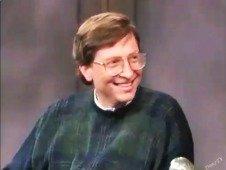 Vê Bill Gates a explicar o que é a Internet num programa de televisão em 1995