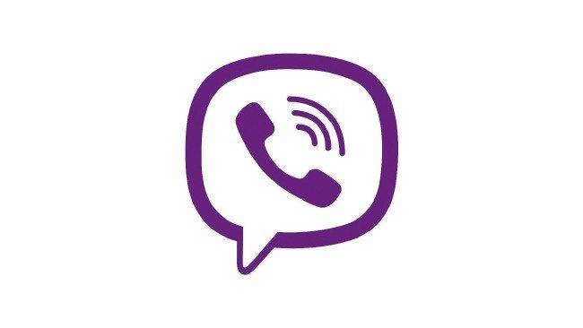 Logótipo do Viber em fundo branco