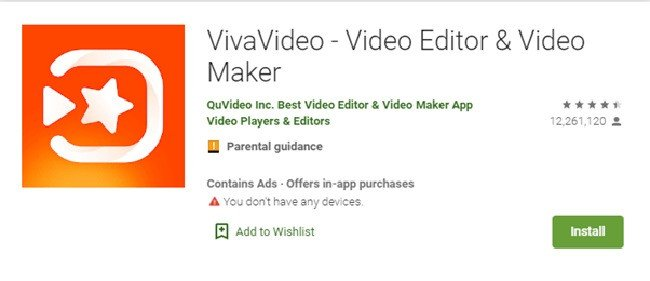 VivaVideo Google Play Store