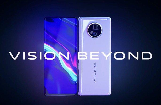Vivo Apex 2020 smartphone câmara dentro do ecrã