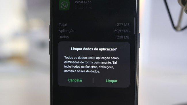 WhatsApp limpeza dados