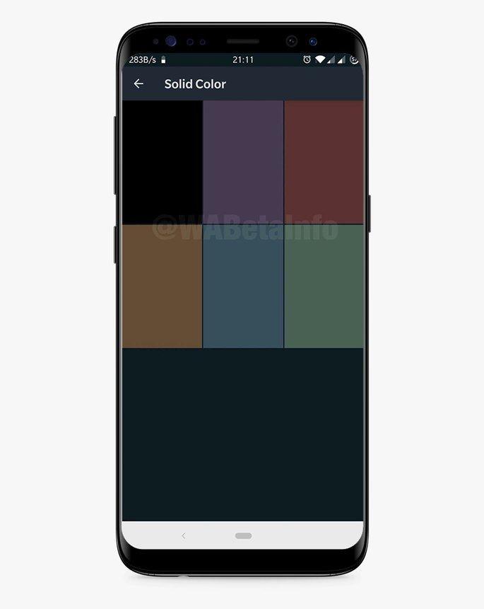 Whatsapp cores Dark Mode