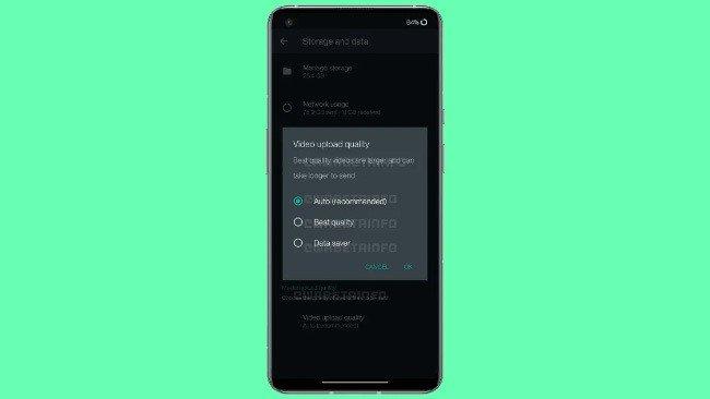 WhatsApp partilha de vídeos qualidade