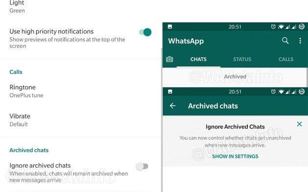 WhatsApp Modo de férias