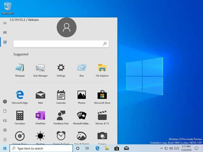windows 10 leak menu iniciar