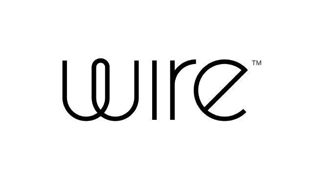 Logótipo da Wire em fundo branco