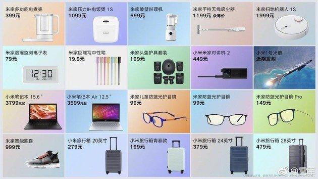 20 produtos Xiaomi