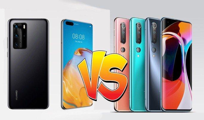 Xiaomi Mi 10 Pro e Huawei P40 Pro