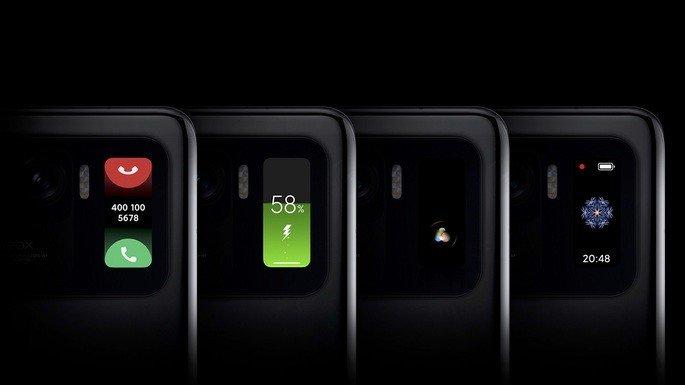 Xiaomi MI 11 Ultra ecrã secundário