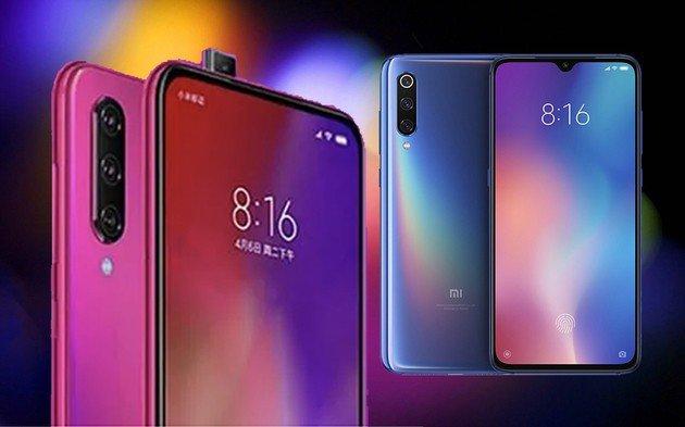 Xiaomi Redmi K20 à esquerda e Xiaomi Mi 9 à direita