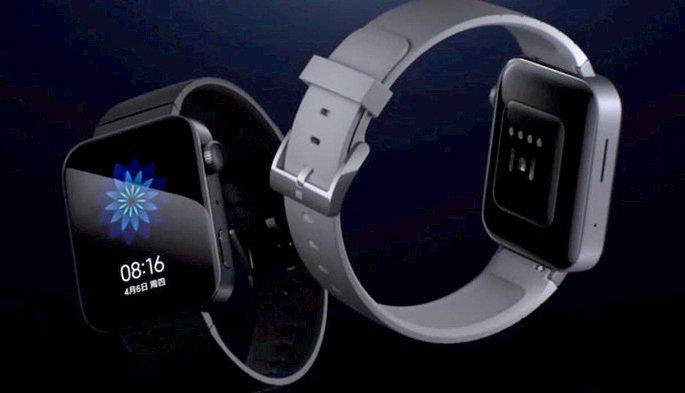 Mi Watch, lançado em 2019 pela Xiaomi, com MIUI adaptada ao formato