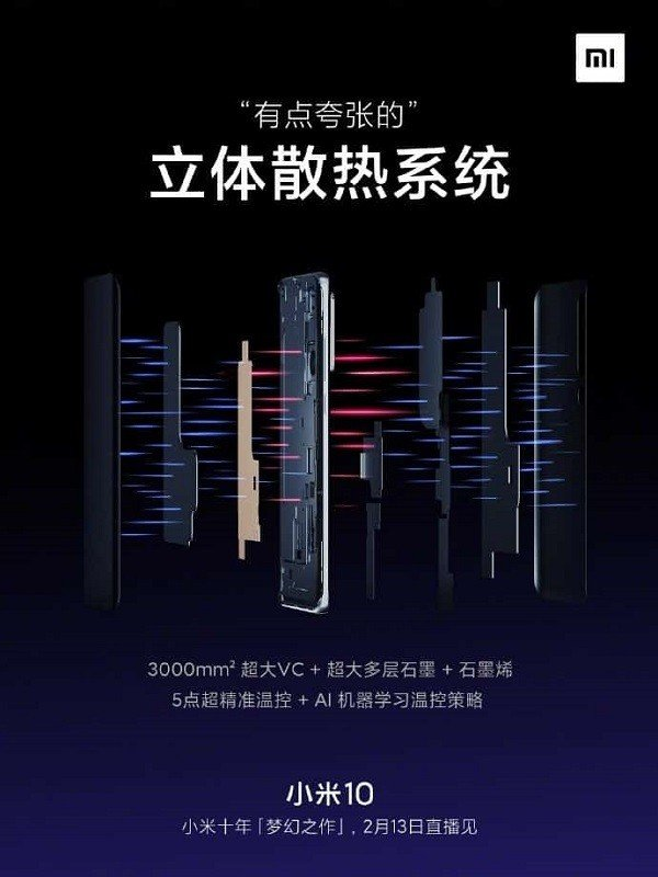 Xiaomi Mi 10 cooling