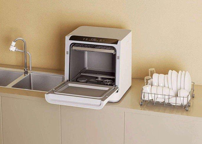 Não precisas de encanação apropriada nesta máquina de lavar loiça da Xiaomi!