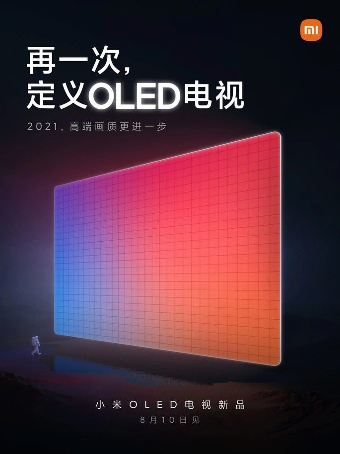 Cartaz oficial de apresentação da nova Smart TV OLED da Xiaomi