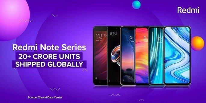 Linha Redmi Note da Xiaomi atinge um total de 200 milhões de unidades vendidas