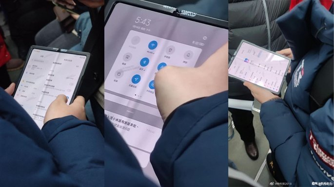 Alegad Xiaomi Mi MIX Fold apanhado nas mãos de utilizador na China