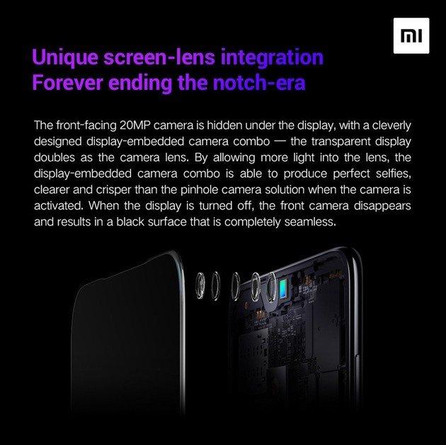 Xiaomi inovação selfie ecrã