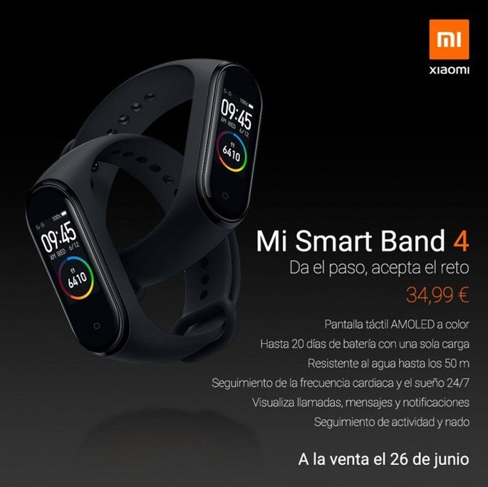 Xiaomi Mi Band 4 Europa