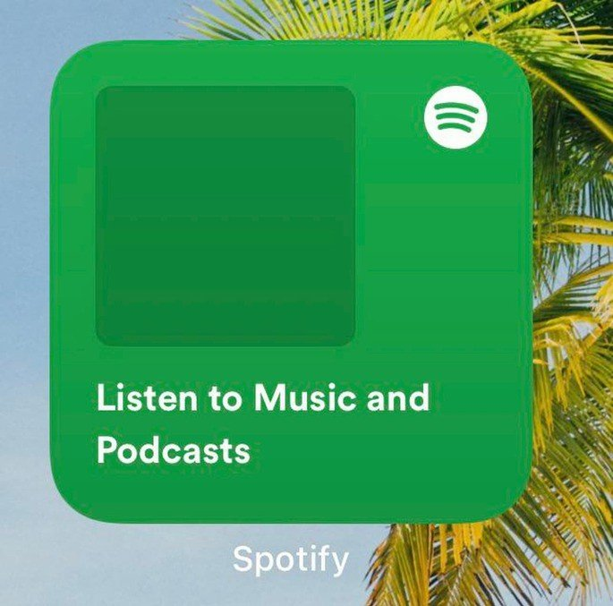 Spotify widget for iPhone iOS 14