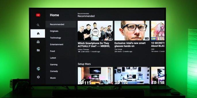 Youtube novo design no Android TV