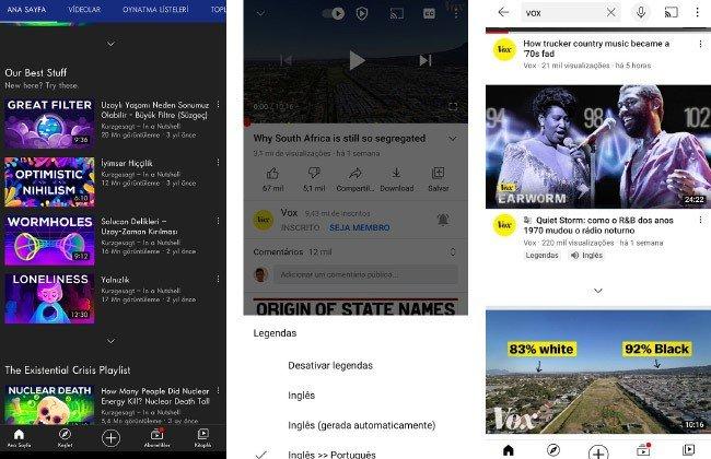 Tradutor automático Google YouTube
